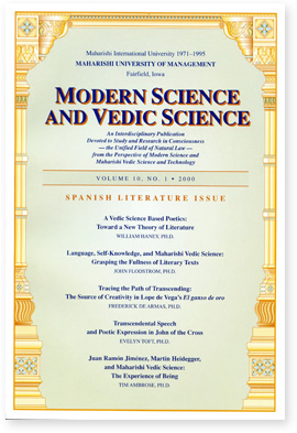 Modern Science and Vedic Science - Volume 10, No.1